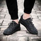 Mens Yeezy Style Boost Gym Trainers Fitness Sports Running Casual Shoes Black