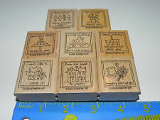 Stampin Up Love Notes Stamp Set of 8 Happy Birthday Christmas Cheer I'm so Glad
