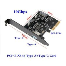 PCI-E PCI-E X4 PCI Express to USB 3.1 Gen 2 Type A+Type C Expansion Card 10 Gbps
