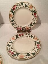 "2 Wedgwood Home Amway Luncheon Salad Plates 9"" Flowering Vine yellow red RARE!!"