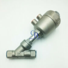"DN65 G2-1/2"" Stainless Single Acting Air Actuated Angle Seat Valve NC PTFE Seal"