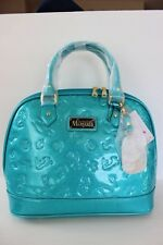 DISNEY LOUNGEFLY LITTLE MERMAID Bowler Bag Sparkle Turquoise Zip Closure NWT