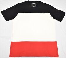 $36 NWT Mens Sean John T-Shirt Colorblock Tee Black Cream Red Urban Size XL N714
