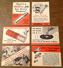 6 x c1930s 1940s Winchester Western Ammunition Counter Display Mini Ad Brochures