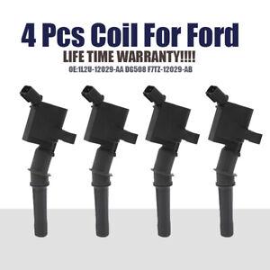 4Pcs Car Ignition Coils For Ford 4.6L 5.4L F150 F250 F550 Lincoln V8 DG508 FD503