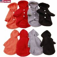 Small Pet Dog Sweatshirt Clothes Puppy Warm Sweater Hoodie Coat Costume Apparel