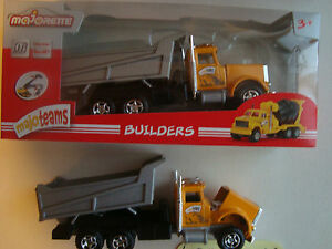 majorette camion benne chantier ref 3035 ech 1/47° neuf en boite serie builders