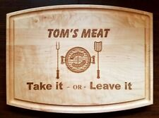 Personalized Maple Cutting board BBQ grill master chef Father's day gift