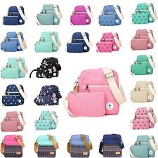 2Pcs Women's Canvas Shoulder Bags Colorful Travel Bag Crossbody Bags For Girls