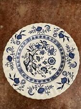 Vintage Wild Rose White and Blue Flower China Small Bread and Butter Dessert Plate Set of 2