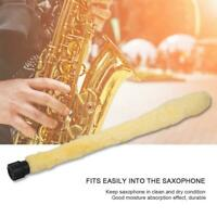 Saxophone Sax Cleaning Brush Cleaner Tool for Saxophone Durable Yellow Accessory