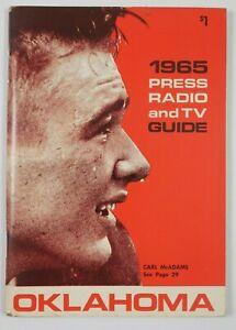1965 University of Oklahoma Sooners TV Radio Media Press Guide Program