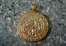 Feng Shui = Increase Life Force Medallion Pendant (Gold Stainless Steel)