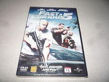 FAST & FURIOUS 5  DVD  STARRING VIN DIESEL & PAUL WALKER  NEW & SEALED