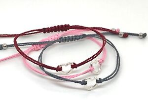 HEART WISH FRIENDSHIP BRACELET ✔COLOUR CHOICE ✔ADJUSTABLE ✔IDEAL GIFT LOVE