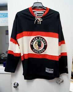 NEW w/ Tags Reebok NHL Chicago Blackhawks Retro Throwback Jersey Large C3484
