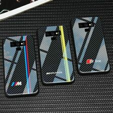 Luxury BMW M3 RACING SPORT RS Carbon Fiber Texture Cover Case for Samsung Galaxy