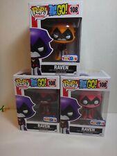 New listing Funko Pop Dc Teen Titans Go! Raven Lot Red / Orange / Pink Variants Toys-R-Us
