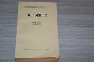 HOELDERLIN, Friedrich - Poèmes - Aubier - Collection bilingue - Broché - Ref E20