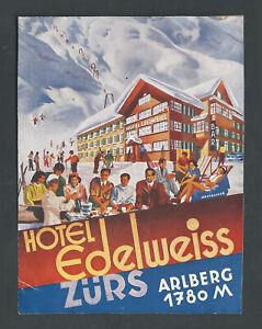Hotel Edelweiss ZURS Austria - vintage luggage label