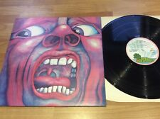 King Crimson in the court of King Crimson Lp island pink rim Ex