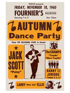 Fifties - Jack Scott - Fournier's Ballroom Concert Poster reprint (1960)