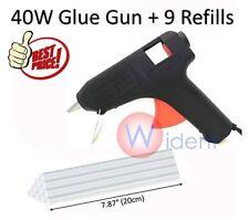 40W Full Size Hot Melt Glue Gun with 9 Free Clear Glue Sticks
