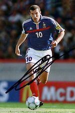 Zinedine zidane + autógrafo + campeón mundial francia 1998 +