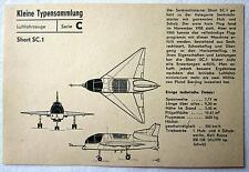 DDR Kleine Typensammlung Luftfahrzeuge - Short SC.1