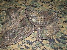 camo tru-leaf hunting turkey hood full cover mesh w/ string tie archery spring