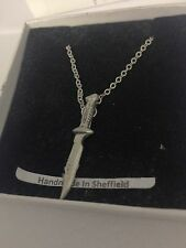 Diving Knife PP-U04 Emblem Silver Platinum Plated Necklace 18""