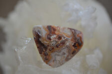 Mexican Crazy Lace Agate Free Form Cabochon 14.3 grams 38.75 X 36.91 X 9.23MM
