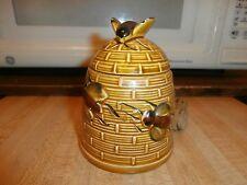 Vintage ceramic Bee Hive Honey Jar Japan with Two Dippers
