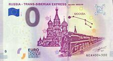BILLET 0 EURO SOUVENIR RUSSIA TRANS SIBERIAN EXPRESS 2019-1 NUMERO 4300