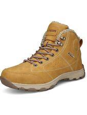 Mens Outdoor Winter Snow Boots Non-Slip Trekking Shoes Beige UK Size 10 A12