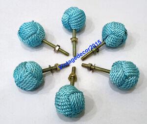 Nautical Jute Rope Antique Drawer Knob Set of 6 Handle Drawer Pulls Furniture