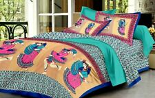 Extra Large King Size Cotton Bedsheet with 2 Pillow Covers - (8.5 X 8.5 Feet)