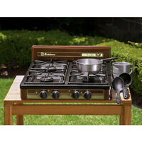 """KOBLENZ 4-BURNER PROPANE/GAS Cooktop Stove Portable Outdoor Camping 18"""" x 24"""""""