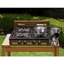 "KOBLENZ 4-BURNER PROPANE/GAS Cooktop Stove Portable Outdoor Camping 18"" x 24"""