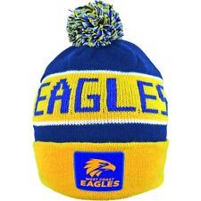 "AFL WEST COAST EAGLES TRADITIONAL BAR BEANIE ""NEW LOGO"" - BRAND NEW"