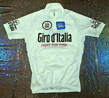 VINTAGE GIRO D'ITALIA EURO SPIN CASACCA CICLISTA  tg L FIGHT FOR PINK m bianca