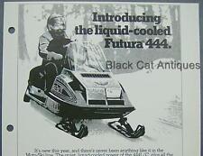"1978 Bombardier ""Futura 444"" Moto-Ski Snowmobile & Sweatshirts Sales Offer Sheet"