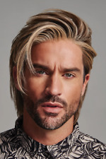 Realistic Men Fashion Blonde Short Curly Hair Handsome Male Synthetic Full Wigs