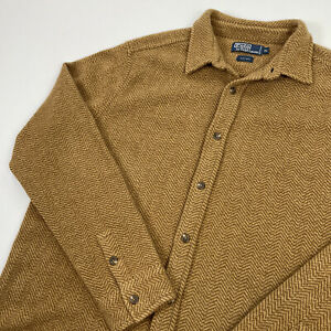 Polo Ralph Lauren (XL) Peanut Brown Thick 100% Wool Herringbone Shirt