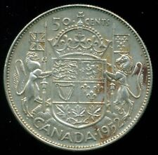 1952 Doubled HP Canada King George VI, Silver Fifty Cent Piece  L29