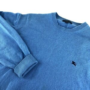Men's Burberry London Jumper Sweater Casual Wool Blue Pullover Size - L