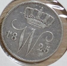 1825 U Nederland 25 cent Willem I zilver - The Netherlands