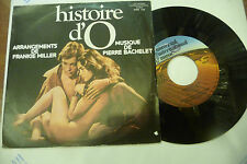 """PIERRE BACHELET""""HISTOIRE D'O-disco 45 giri UNIVERSAL Italy 1973"""" OST-SEXY COVER"""