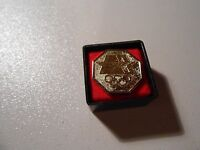 1980 Gold-Colored Olympic Games Metal Push-Back Hat Lapel Pin