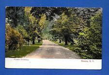 Vintage Postcard circa 1910 Geneva, NY Private Driveway Unposted